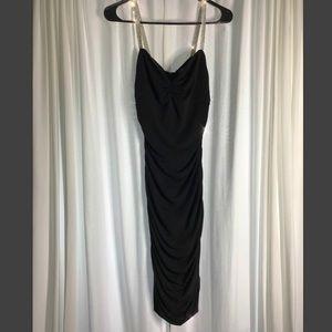 ✨Black Midi Dress- Moda International- Size M